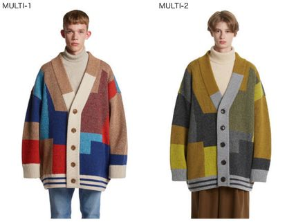 BTS TEAHYUNG's TRUNKPROJECT Color Mixed Wool Cardigan Jacket