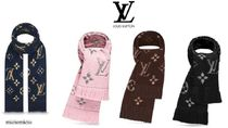 Louis Vuitton Monogram Unisex Fringes Heavy Scarves & Shawls