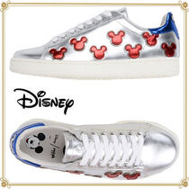 Disney Casual Style Collaboration Leather Low-Top Sneakers