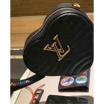 Louis Vuitton Calfskin Blended Fabrics Bag in Bag 2WAY Plain Elegant Style
