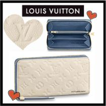 Louis Vuitton MONOGRAM EMPREINTE Monogram Unisex Calfskin Bi-color Long Wallets