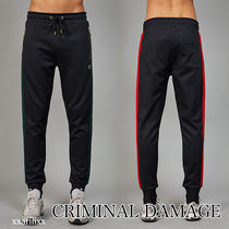 CRIMINAL DAMAGE Stripes Joggers & Sweatpants