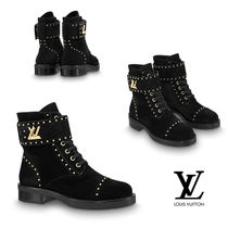 Louis Vuitton Casual Style Studded Leather Ankle & Booties Boots
