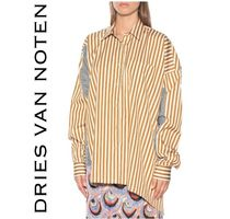 Dries Van Noten Stripes Casual Style Bi-color Long Sleeves Cotton Long