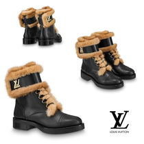 Louis Vuitton Casual Style Fur Ankle & Booties Boots