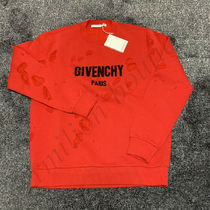 GIVENCHY Pullovers Street Style Long Sleeves Plain Sweatshirts