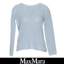 MaxMara Casual Style Cashmere Long Sleeves Plain Cashmere