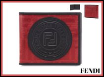 FENDI FOREVER Unisex Street Style Leather Folding Wallets