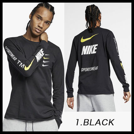 Nike More T-Shirts Street Style Long Sleeves Cotton T-Shirts 2