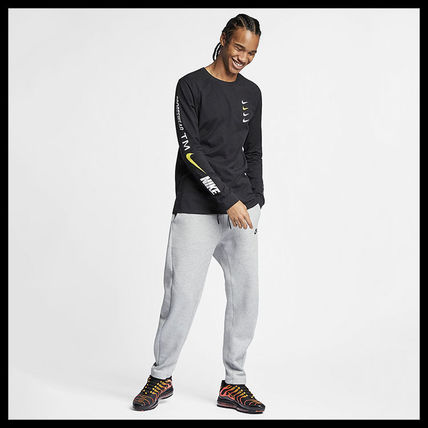 Nike More T-Shirts Street Style Long Sleeves Cotton T-Shirts 3