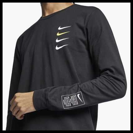 Nike More T-Shirts Street Style Long Sleeves Cotton T-Shirts 5