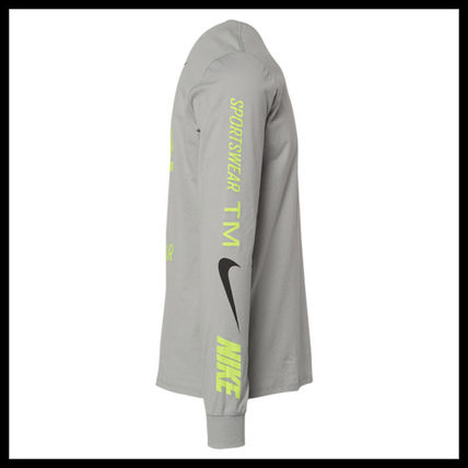 Nike More T-Shirts Street Style Long Sleeves Cotton T-Shirts 8