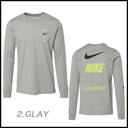 Nike More T-Shirts Street Style Long Sleeves Cotton T-Shirts 6