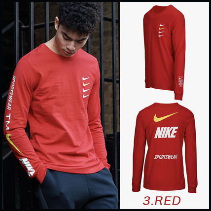 Nike More T-Shirts Street Style Long Sleeves Cotton T-Shirts 9