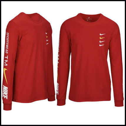 Nike More T-Shirts Street Style Long Sleeves Cotton T-Shirts 10
