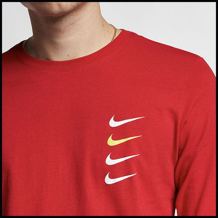 Nike More T-Shirts Street Style Long Sleeves Cotton T-Shirts 11