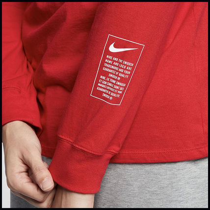 Nike More T-Shirts Street Style Long Sleeves Cotton T-Shirts 12