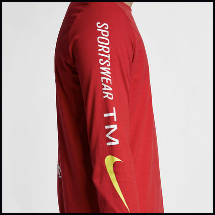 Nike More T-Shirts Street Style Long Sleeves Cotton T-Shirts 13