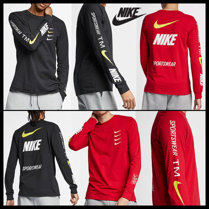 Nike More T-Shirts Street Style Long Sleeves Cotton T-Shirts