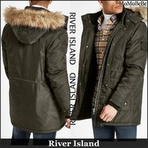 River Island Faux Fur Plain Parkas