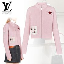 Louis Vuitton Short Casual Style Cashmere Rib Blended Fabrics Long Sleeves