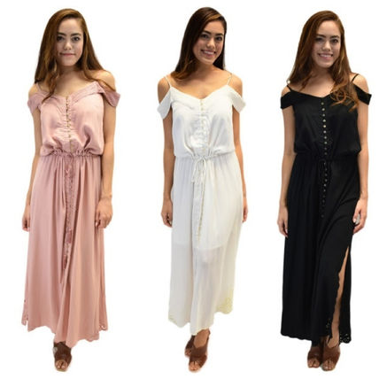 Maxi Sleeveless Plain Long Dresses