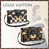 Louis Vuitton PETITE MALLE Monogram Canvas Blended Fabrics 3WAY Bi-color Shoulder Bags