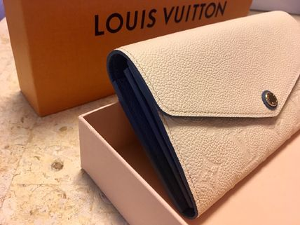 Louis Vuitton Long Wallets Plain Leather Long Wallets 3