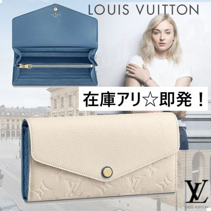 Louis Vuitton Long Wallets Plain Leather Long Wallets