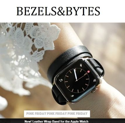 Casual Style Unisex Blended Fabrics Leather Watches