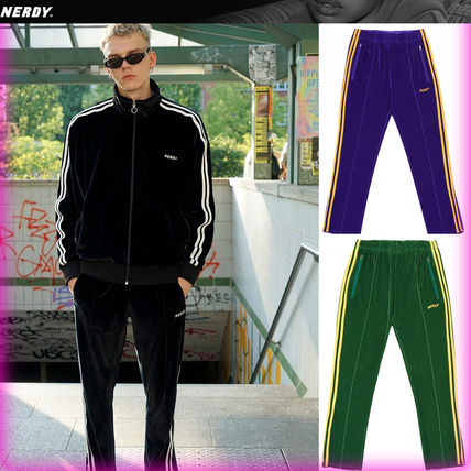 Casual Style Unisex Collaboration Cotton Oversized Pants