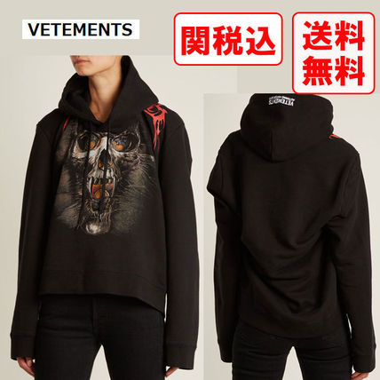 VETEMENTS Hoodies Street Style Long Sleeves Cotton Hoodies