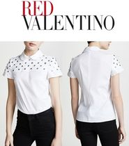 RED VALENTINO Casual Style Short Sleeves Shirts & Blouses