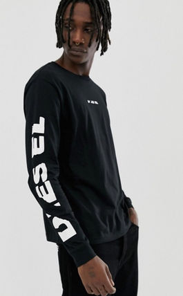 DIESEL Long Sleeve Crew Neck Street Style Long Sleeves Plain Cotton 6
