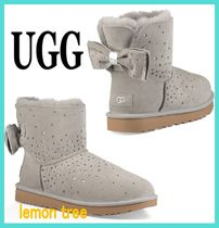 UGG Australia MINI BAILEY BOW Star Casual Style Sheepskin Ankle & Booties Boots