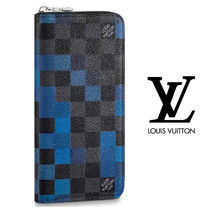 Louis Vuitton DAMIER GRAPHITE Other Check Patterns Canvas Long Wallets