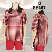 FENDI Other Check Patterns Short Sleeves Shirts & Blouses