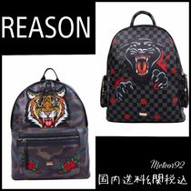 REASON Faux Fur Street Style Other Animal Patterns Backpacks