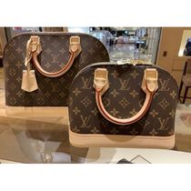 Louis Vuitton ALMA Monogram Canvas Blended Fabrics 2WAY Bi-color Elegant Style