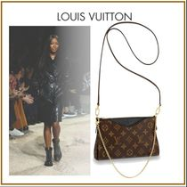 Louis Vuitton Monogram Bag in Bag 2WAY Bi-color Chain Leather Party Style