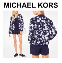 Michael Kors Flower Patterns Casual Style Jackets
