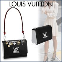 Louis Vuitton TWIST Blended Fabrics Studded 2WAY Chain Plain Leather