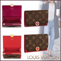 Louis Vuitton MONOGRAM Monogram Canvas Blended Fabrics Bi-color Folding Wallets
