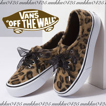 VANS AUTHENTIC Leopard Patterns Rubber Sole Lace-up Casual Style