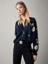 Massimo Dutti Flower Patterns Puffed Sleeves Elegant Style