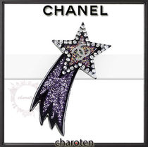 CHANEL ICON Star Casual Style Glitter Earrings