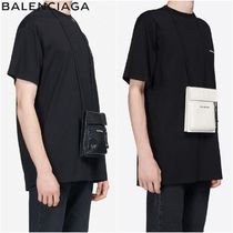 BALENCIAGA Lambskin 2WAY Plain Clutches
