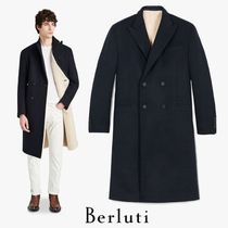Berluti Plain Long Chester Coats