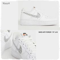Nike AIR FORCE 1 Street Style Leather Low-Top Sneakers