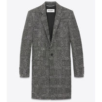 Saint Laurent Wool Plain Long Chester Coats